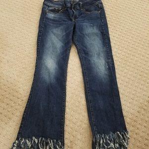 AE kick boot fringed gettin jeans